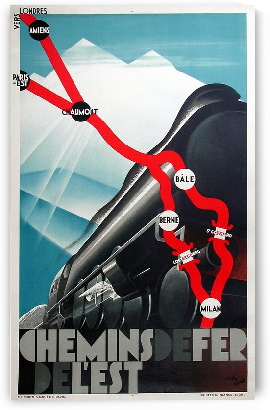 Chemins de fer de Est Original Poster by VINTAGE POSTER