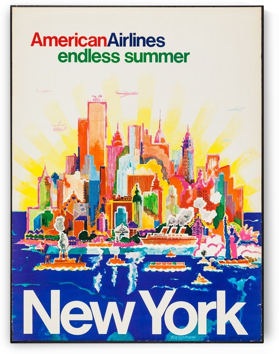American Airlines Travel Poster Endless Summer by VINTAGE POSTER