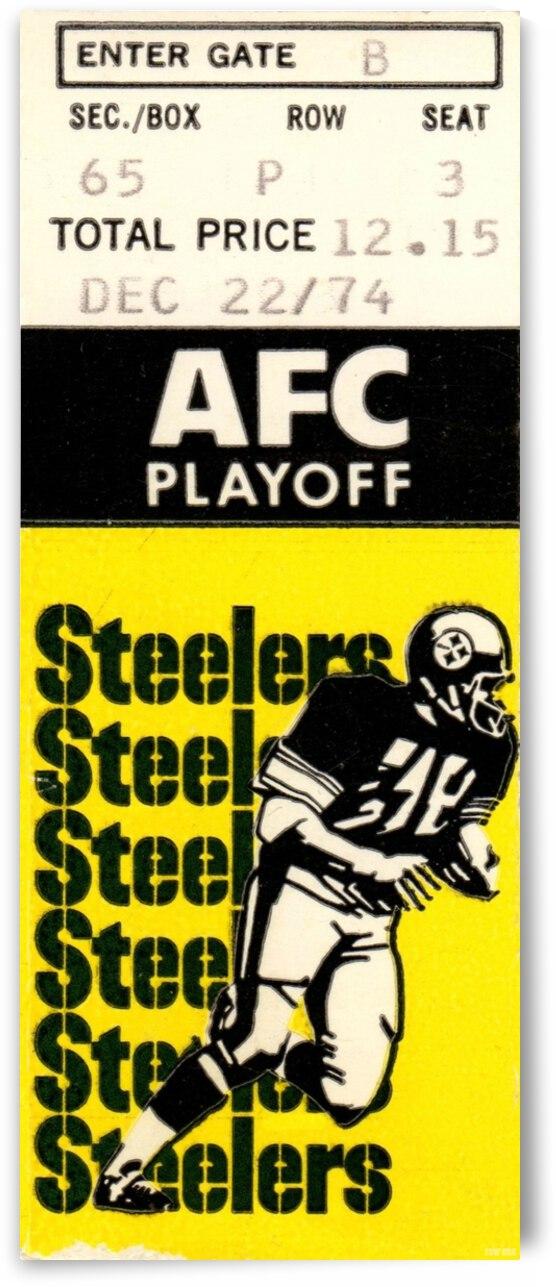 1974 Pittsburgh Steelers vs. Buffalo Bills   Row 1 by Row One Brand