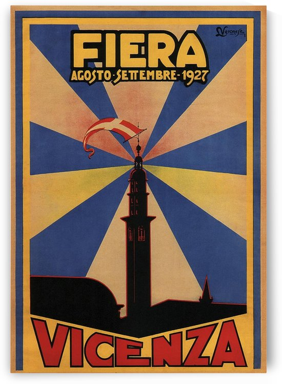 Fiera Vicenza 1927 travel poster by VINTAGE POSTER