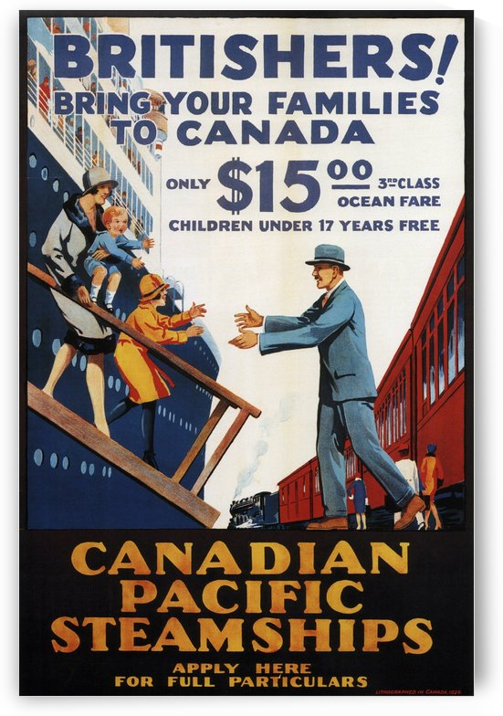 Canadian Pacific Steamships Vintage Travel Poster by VINTAGE POSTER
