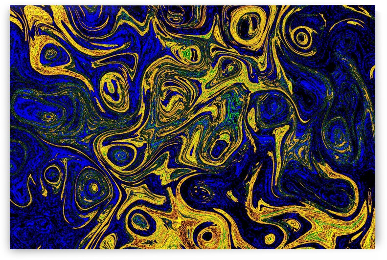 Blood Blue Yellow  Fire Stone by Sherrie Larch