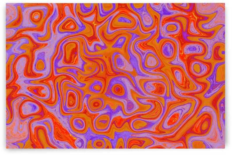 Bright Orange Purple Fire Stone by Sherrie Larch