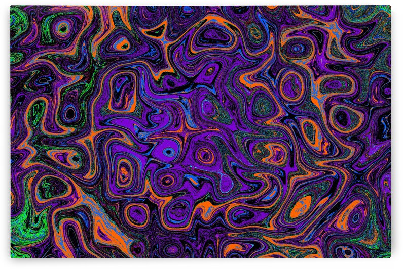 Purple Chaos Fire  Stone by Sherrie Larch