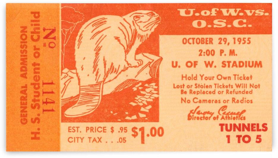 1955 Oregon State Beavers vs. Washington Huskies   Row 1  by Row One Brand