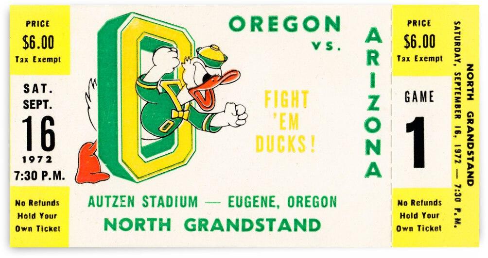 1972 Oregon Ducks vs. Arizona Wildcats | Row 1  by Row One Brand