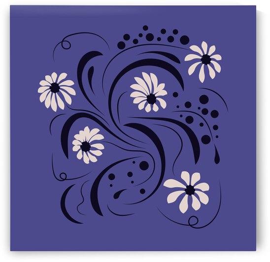 Folk flowers floral art print Flowers abstract art by Eskimos