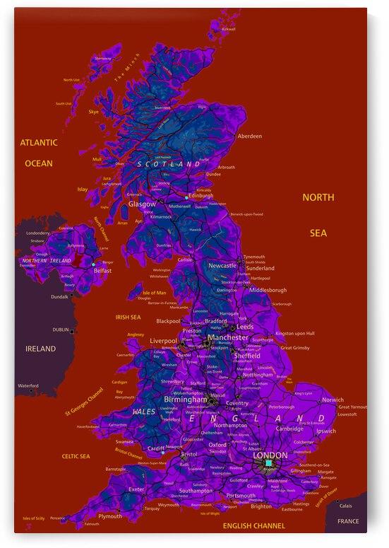United Kingdom map by SamKal