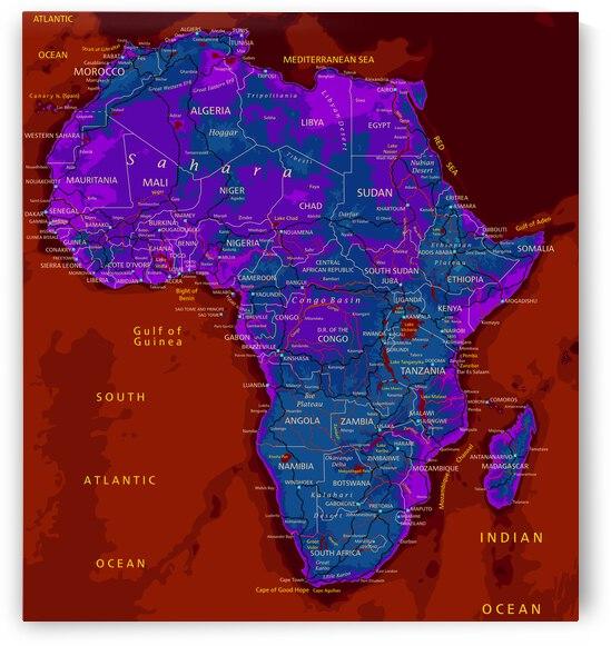 Africa map by SamKal