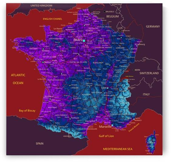 France map by SamKal