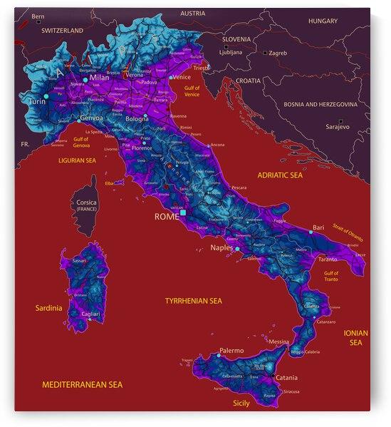 Italy Map by SamKal