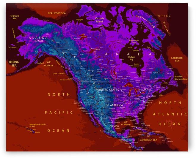 North America Map by SamKal
