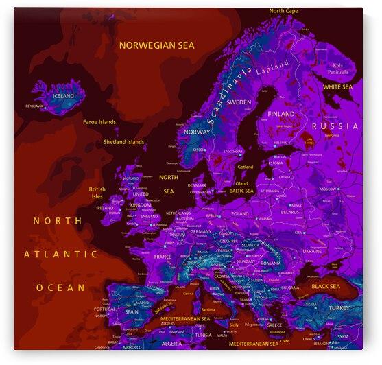 EU Map by SamKal