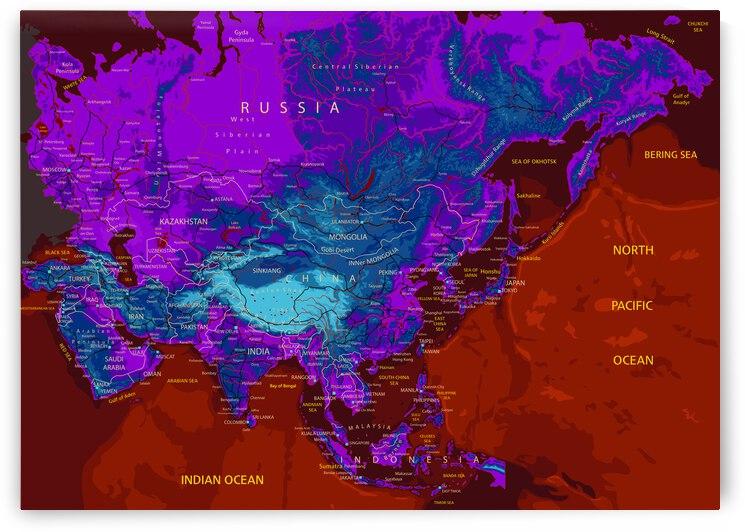 Asia Map by SamKal