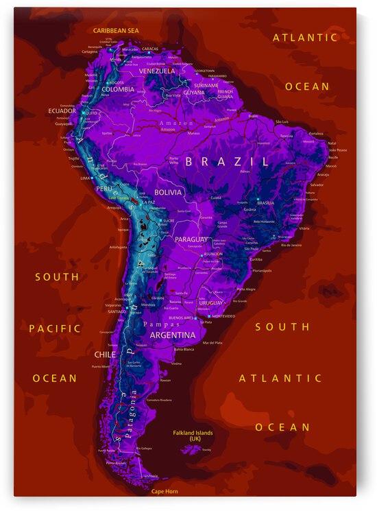 South America Map by SamKal