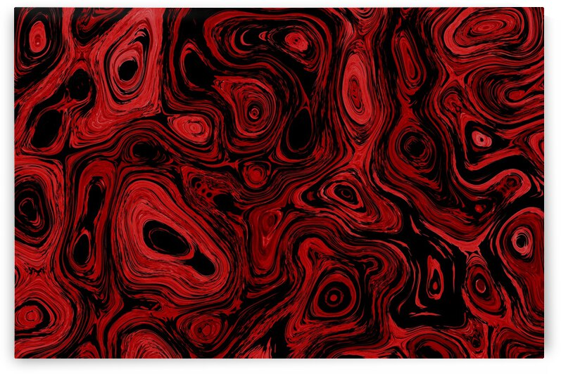 Blood Orange Red Fire Stone 2 by Sherrie Larch