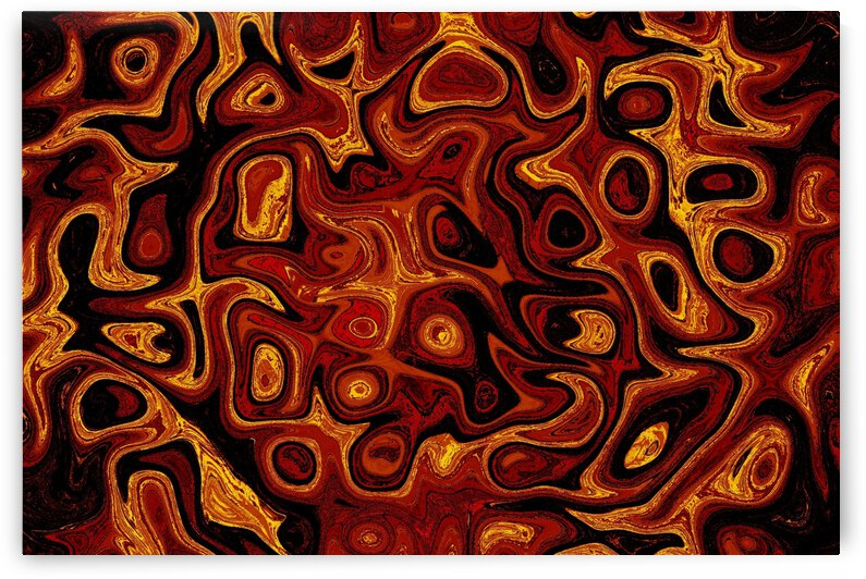 Gold and Black Fire Stone 1 by Sherrie Larch