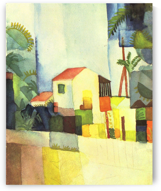 Bright house by August Macke by August Macke