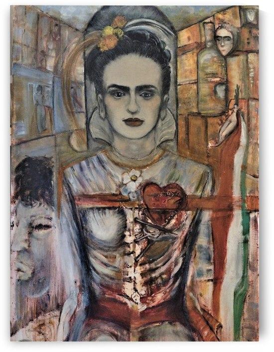 Beautiful Frida by Becky Claffy Fine Art