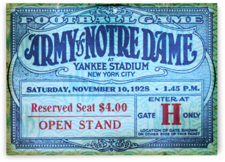 1928 Army vs. Notre Dame | Win One for The Gipper  by Row One Brand