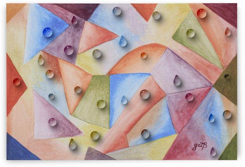 Rainbow Water Drops by Georgeta Blanaru