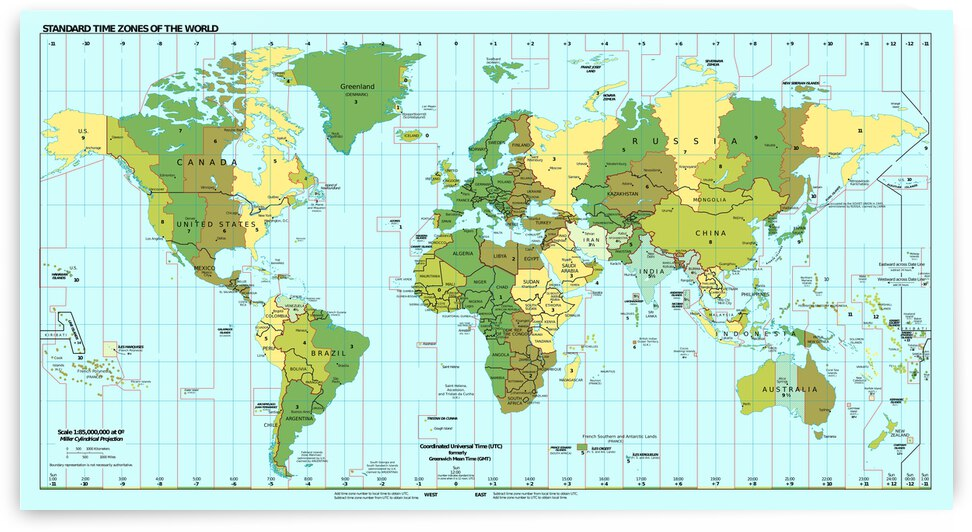 Time Zones of the World by SamKal