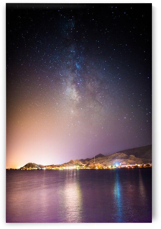 Mazen Hamam - Red sea at night photography wall art print  by Mazen Hamam