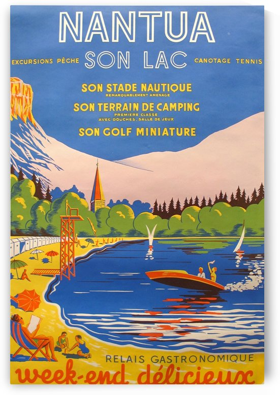 Vintage French Travel Poster for Nantua by VINTAGE POSTER