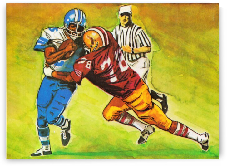 1975 Florida State Seminoles Retro Football Art | Row 1 by Row One Brand