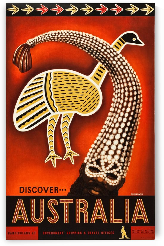 Discover Australia Travel Poster by VINTAGE POSTER