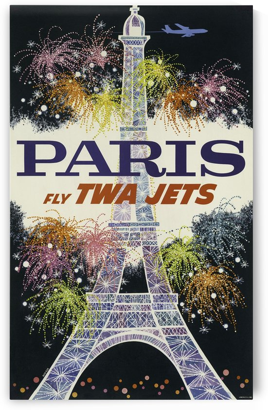 David Klein, Paris, Vintage travel poster by VINTAGE POSTER