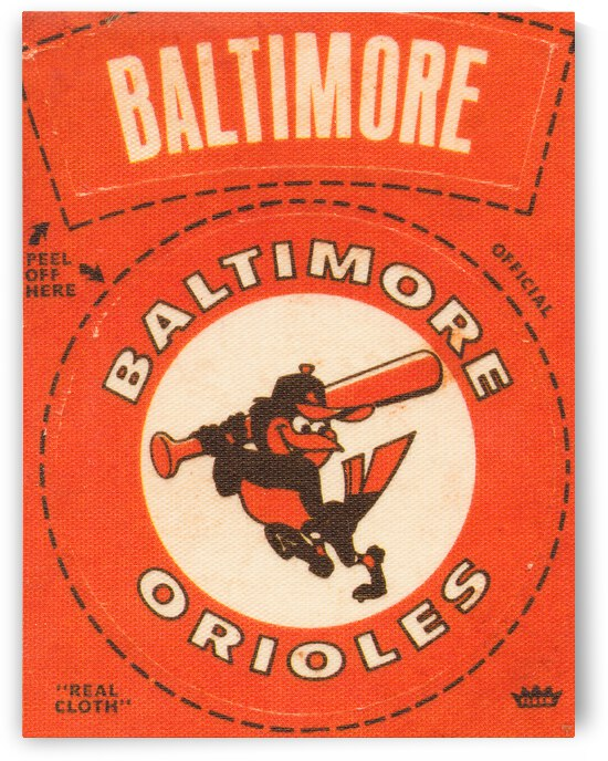 1969 Baltimore Orioles Fleer Cloth Patch Art | Row 1 by Row One Brand