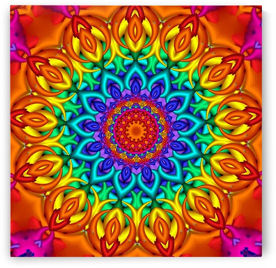 Knitted Kaleidoscope  by Angela Cooper Hanley