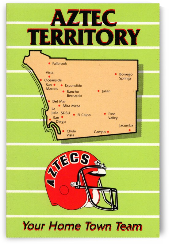 1988 San Diego State Aztecs | Aztec Territory | Row 1 by Row One Brand