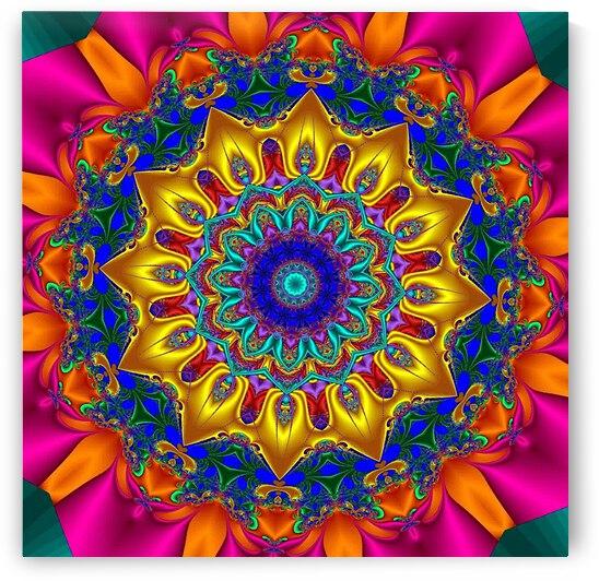 Open Pink Bloom Kaleidoscope by Angela Cooper Hanley
