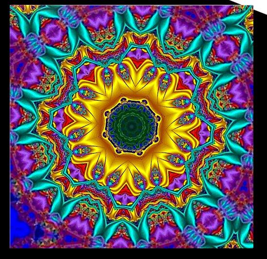 The Summer Throne Kaleidoscope by Angela Cooper Hanley