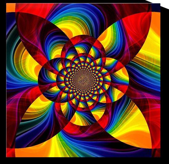 Pinwheel Mandala by Angela Cooper Hanley