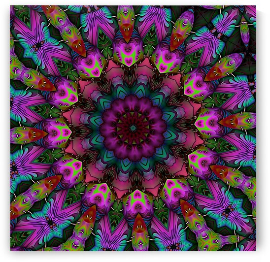 Lavender Flower Kaleidoscope by Angela Cooper Hanley