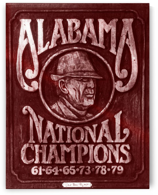 1982 Alabama Bear Bryant National Champions Art | Row 1 by Row One Brand