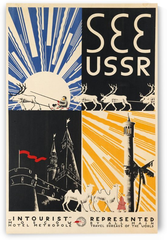 See USSR travel poster by VINTAGE POSTER