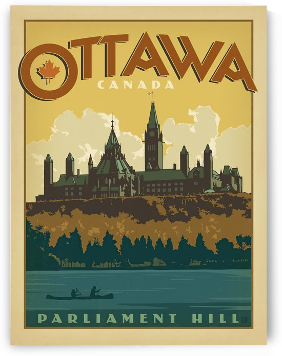 Bungalow Camps Ontario Vacation Ottawa by VINTAGE POSTER