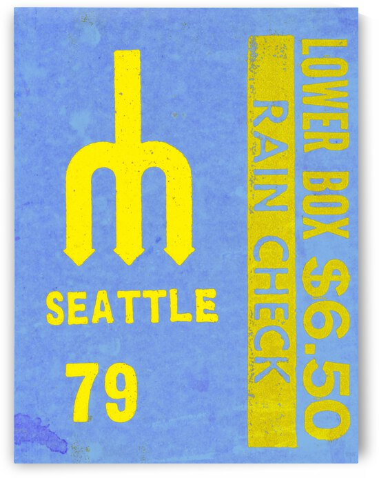 1979 Seattle Mariners Ticket Stub Remix Art   Row 1 by Row One Brand