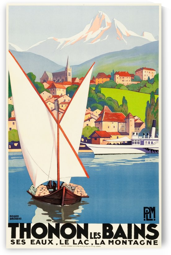 Thonon Les Bains Travel Poster by VINTAGE POSTER