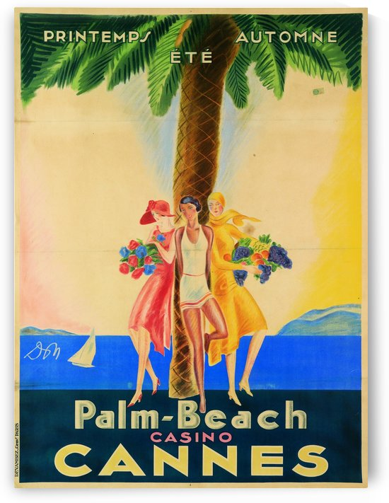 Palm Beach Casino Cannes by VINTAGE POSTER