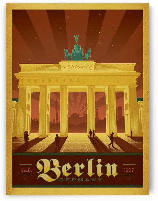 Berlin Germany travel poster by VINTAGE POSTER