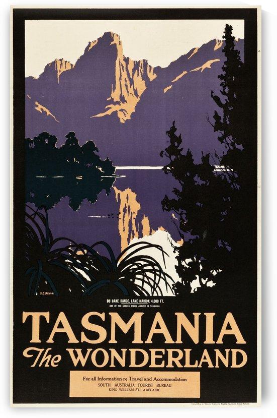 Tasmania the Wonderland Travel Poster by VINTAGE POSTER
