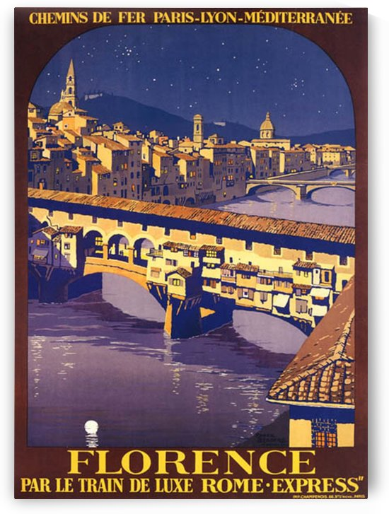 Florence Travel Poster by VINTAGE POSTER