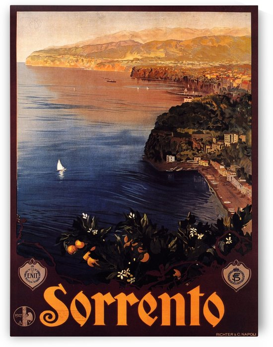 Sorento Travel Poster by VINTAGE POSTER