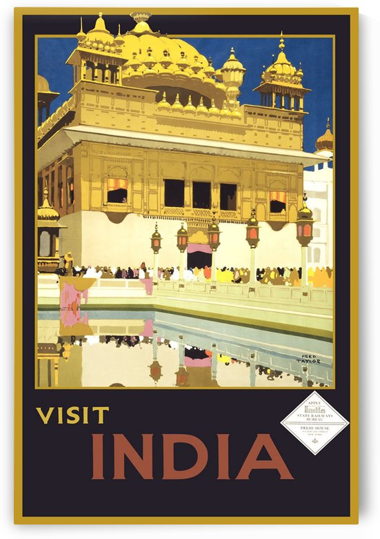 Visit India vintage travel poster by VINTAGE POSTER