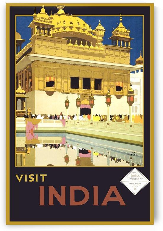 Visit India vintage travel poster by VINTAGE POSTER